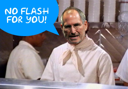 Steve Jobs says no flash for you